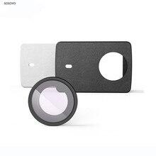 Oryginalna soczewka ochronna YI 4K UV + pokrowiec ochronny ze skóry PU czarno biały do Xiaomi Yi 4K akcesoria do kamery sportowej