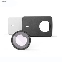 Yi 4k original lente de proteção uv, + couro pu, capa protetora, preto e branco para xiaomi yi 4k acessórios da câmera esportiva de ação