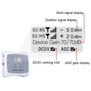 Image 2 - GSM WCDMA LTE Mobile Phone Signal Booster 3G 4G LTE 1800 2100 Dual Band Cell Phone Cellular Signal Repeater Amplifier For Home