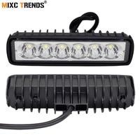 2Pcs 18W Floodlight Spotlight Work LED Light Bar Driving DRL Fog Lamp Motorcycle Offroad SUV 4WD
