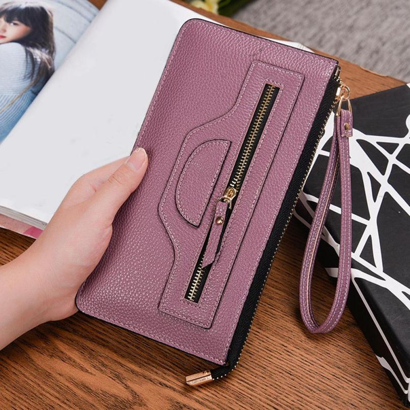 New Fashion Lady Women Purse Money Bag Female Leather Thin Wallets Long Clutch Coin Card Holder Coin Purse Handbags High Quality youyou mouse high quality women long wallets fashion pu leather money wallet 6 colors lady clutch coin purse card