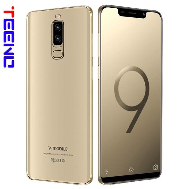 "VMobile S9 Mobile Phone Android 7.0 5.84"" Full Screen 19:9 2GB RAM 16GB ROM 13MP Camera Face ID Dual Sim 3G Quad Core Smartphone"
