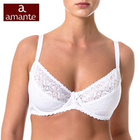 044b420666f8 Woman's Bra Lace White Soft Cup Cotton Lining Large Size for Big Breast 75  80 85