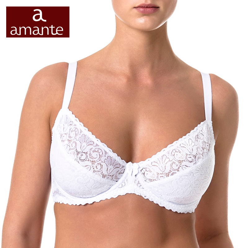 Woman's Bra Lace White Soft Cup Cotton Lining Large Size for Big Breast 75 80 85 90 C D E F ARDI Amante Free Delivery N1010-12