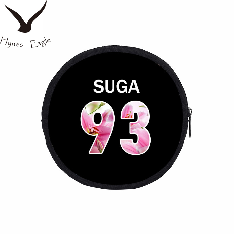 Hynes Eagle Round Coin Purses Accessories Bag Young Forever Stage Canvas Wallet For Women BTS Printing Coin Purse SUGA JUNG KOOK