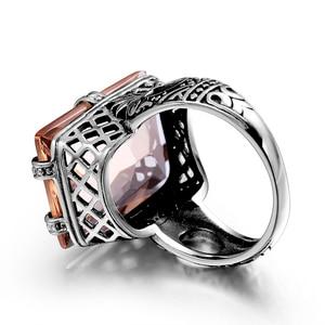 Image 4 - Szjinao 925 Sterling Zilveren Ring Amber Vierkante Voor Vrouwen Bridal Wedding Edelsteen Ringen Enagement Party Fijne Sieraden Hoge Kwaliteit