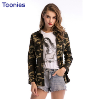 New Fashion Womens Tops And Blouses Single Breasted Camouflage Shirt Women Long Sleeved Camisas Mujer Slim