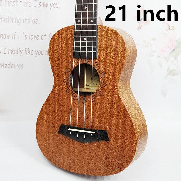 SevenAngel 21 pouces ukulélé acajou Soprano guitare de voyage Hawaii 4 cordes Ukelele électrique acoustique Gitar avec ramassage EQ - 2