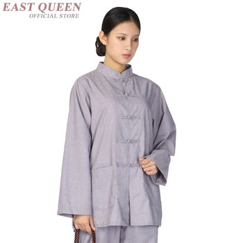 Traditional chinses clothing women chinese market online kung fu uniform buddhist clothing two piece set top and pants FF645 A
