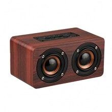 Деревянный Беспроводной Bluetooth Динамик Портативные Hi-Fi плееры шок бас Altavoz TF caixa де сом Саундбар для iPhone Xiaomi ForJBL Динамик