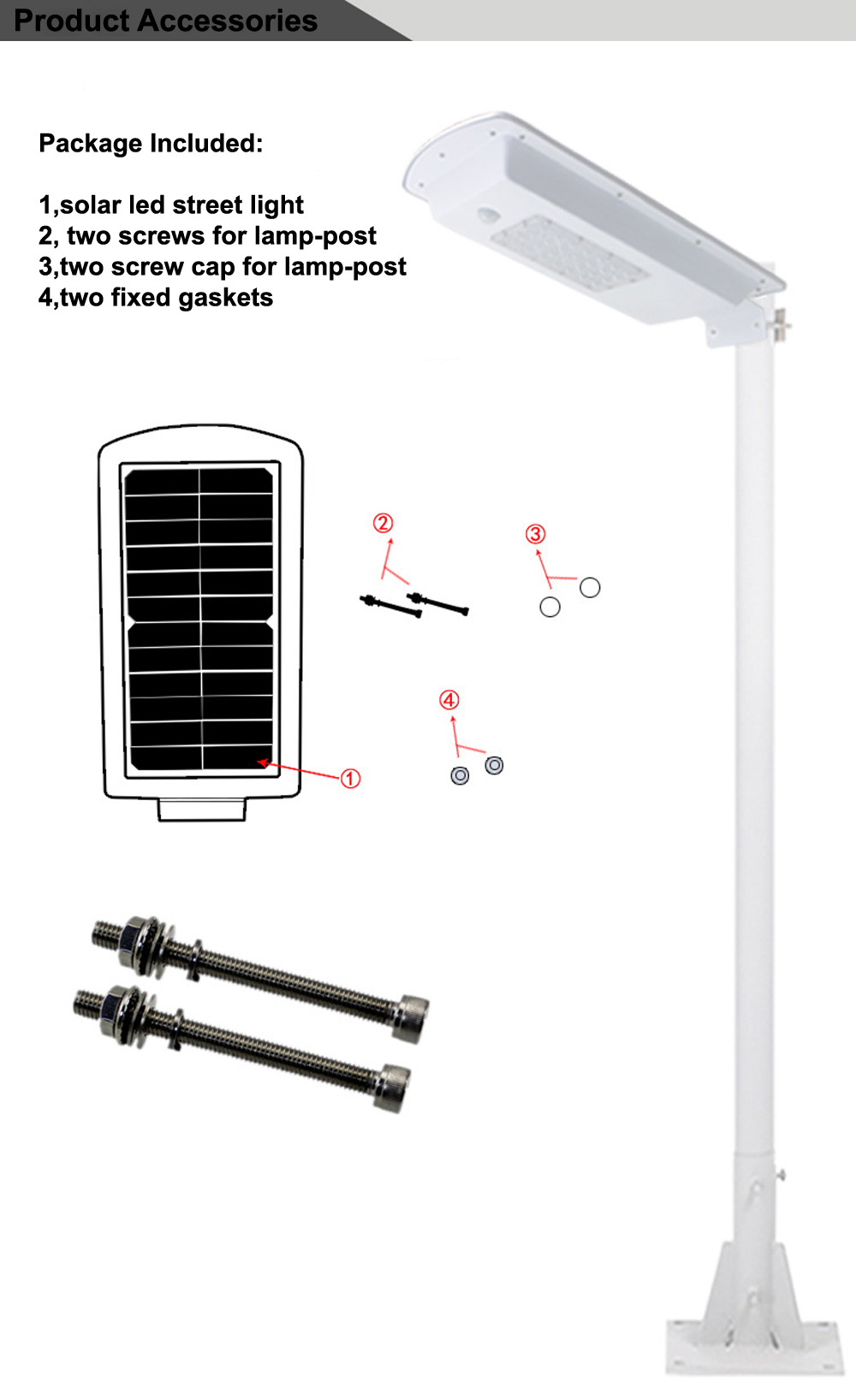 GO OCEAN Solar Lamps LED Solar Waterproof Wall Integrated LED Street Light Solar Lamp Motion Sensor Outdoor Garden Light (13)