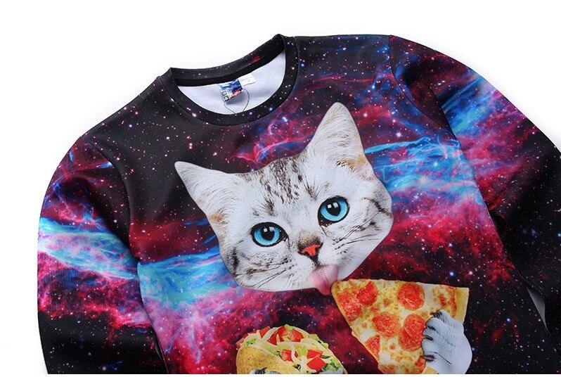 HTB1BCMEPFXXXXbAXXXXq6xXFXXXo - 3d sweatshirts for Women both side print Cats eat pizza sweatshirt