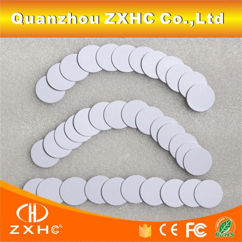 (100PCS/LOT) 25mm Ntag216 NFC Tag Round Shape Coin Cards Protocol ISO14443A 888 Bytes For All NFC Phones(100PCS/LOT) 25mm Ntag216 NFC Tag Round Shape Coin Cards Protocol ISO14443A 888 Bytes For All NFC Phones