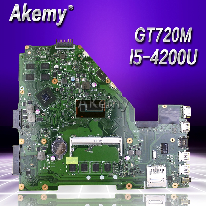 Akemy X550LC Laptop Motherboard For ASUS X550LC X550LD A550L Y581L W518L X550LN Test Original Mainboard 4GB-RAM I5-4200U GT720M