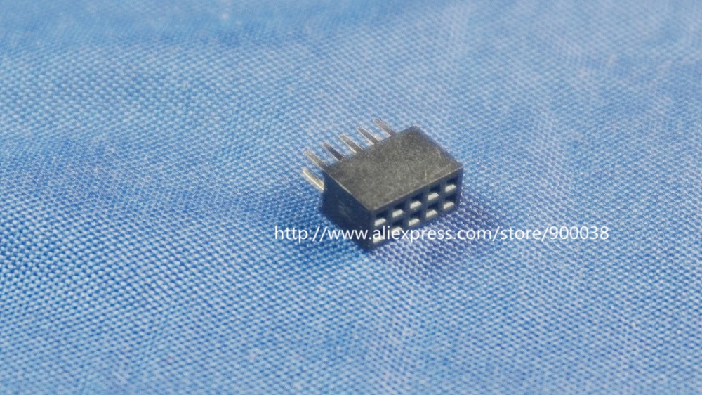100pcs 2x5 P 10 pin 1.27mm Pitch Pin Header Female dual row straight through hole DIP Rohs Lead free 10 pcs 1 27mm x1 27 mm box header 2x8 pin 16 pin dual rows through hole dip type straight male shrouded pcb idc socket