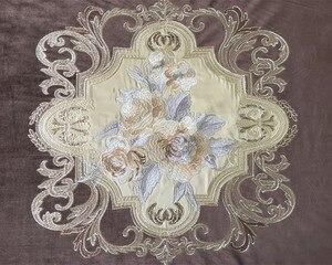 Image 5 - Lujosa tela bordada de terciopelo Euro para cortinas, paneles de tela para cortinas, tapicería, 280cm de ancho, removible con riel