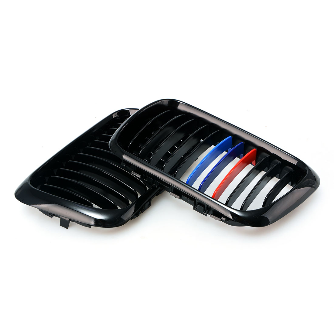 Car-styling Car Front Grille Reflective Strip 3 Color Stickers For BMW E46 E39 E90 E60 E36 F30 F10 E34 X5 E53 X6 E92 2pcs lot 24 smd car led license plate light lamp error free canbus function white 6000k for bmw e39 e60 e61 e70 e82 e90 e92