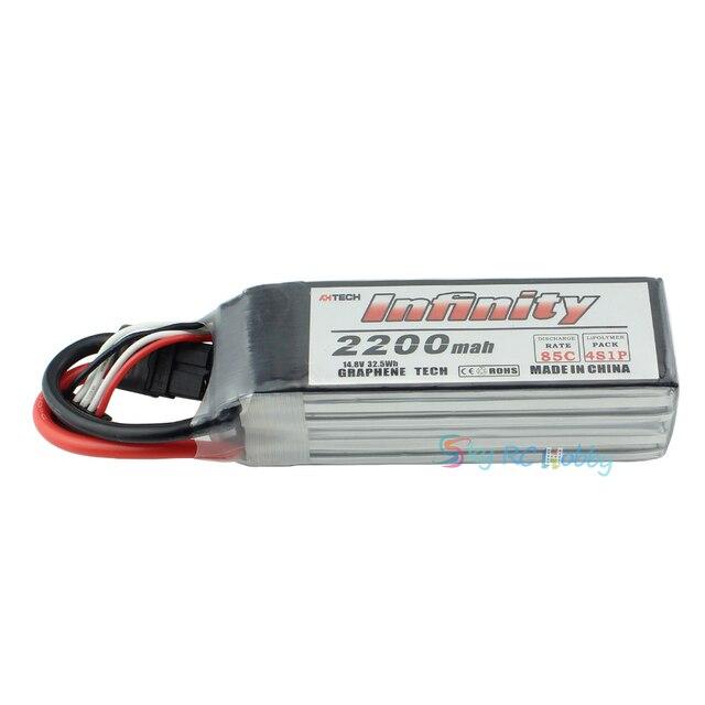 Infinity LiPo batterie 4 S 2200 mah 85C avec prise en T XT60H Stecker Graphene Tech pour Drone quadrirotor RC