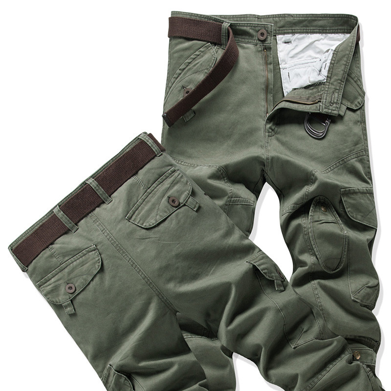 Mens warm pants for winter Plus Size 40 Autumn Thick Cargo Pants Male Casual Outwear Pockets Trousers Fashion Baggy Sweatpants