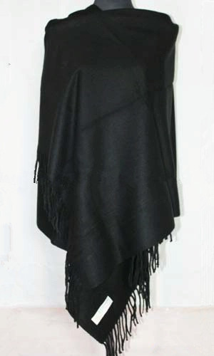 Free Shipping Black Winter Women's 100% Wool Cashmere Shawl Warm Wrap SH002-H