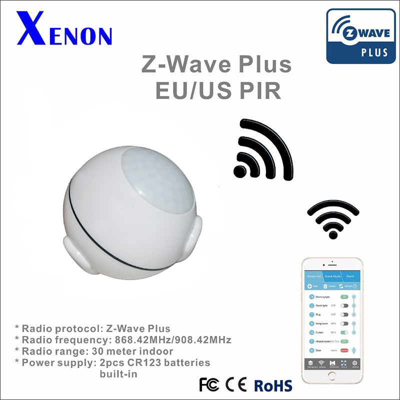 buy xenon z wave smart home system z wave pir sensor compatible with all z wave. Black Bedroom Furniture Sets. Home Design Ideas
