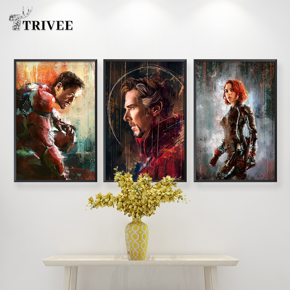 100/% Cotton Wall Art Print Ant-Man The Avengers Endgame Abstract Movie Poster