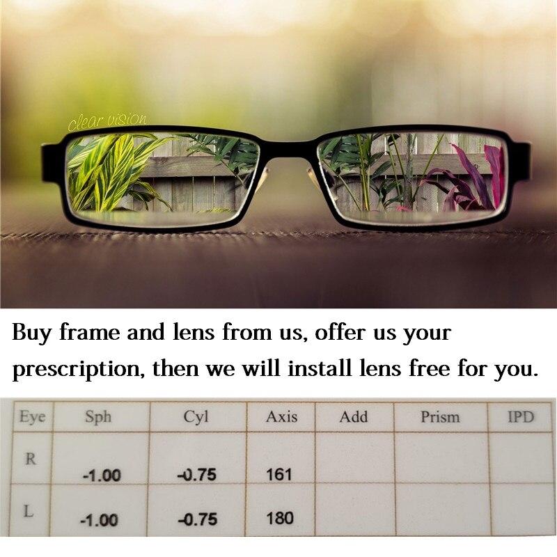 CUBOJUE 1.74 indice résine lunettes lentille asphérique ultra-mince Anti-rayonnement bleu Prescription lentille myopie/hyperopie/presbytie - 5