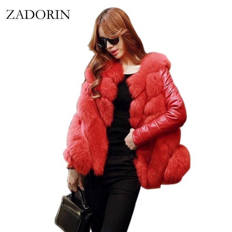 Plus Size 2019 Winter Fashion Women Luxurious FAUX Fur Coat High Quality Elegant Ladies Fur Jacket
