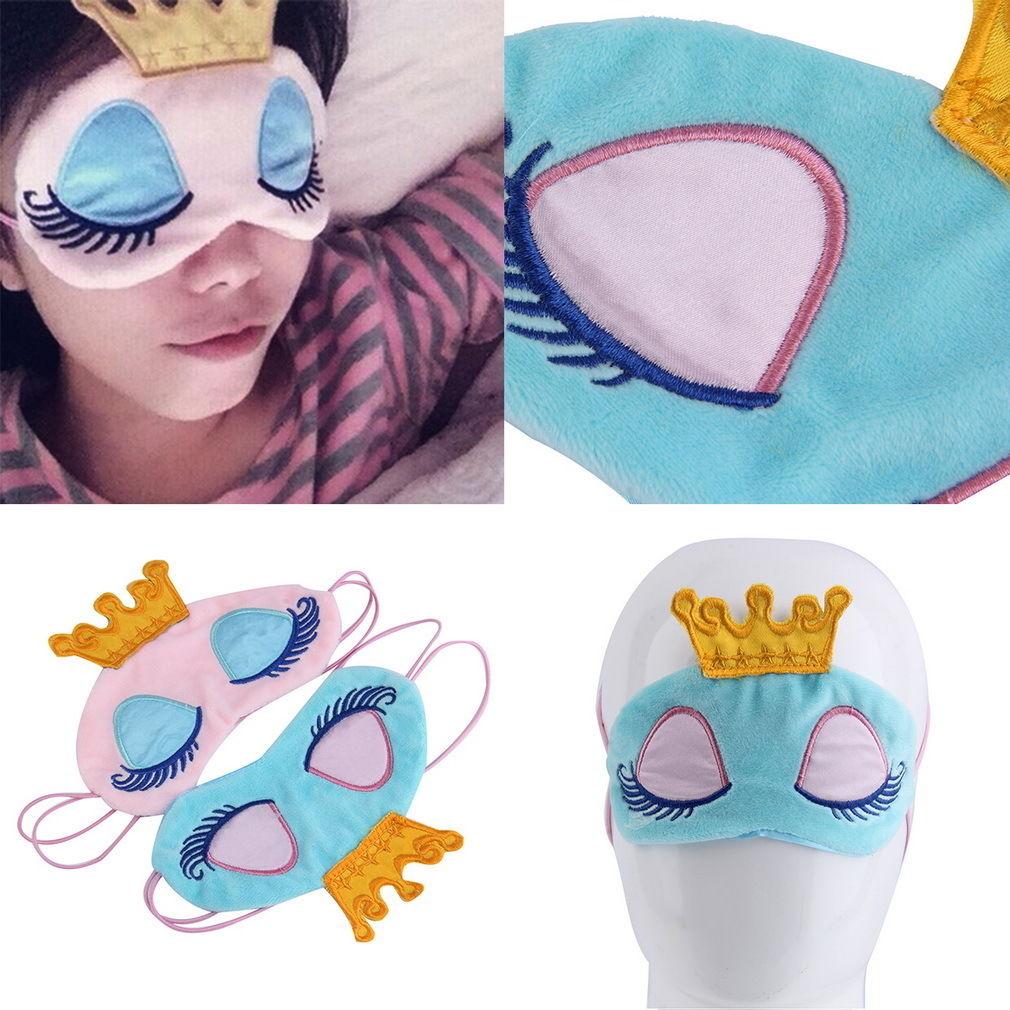 Cute Cartoon Princess Crown Fantasy Eyes Cover Travel Sleeping Blindfold Shade Eye Masks