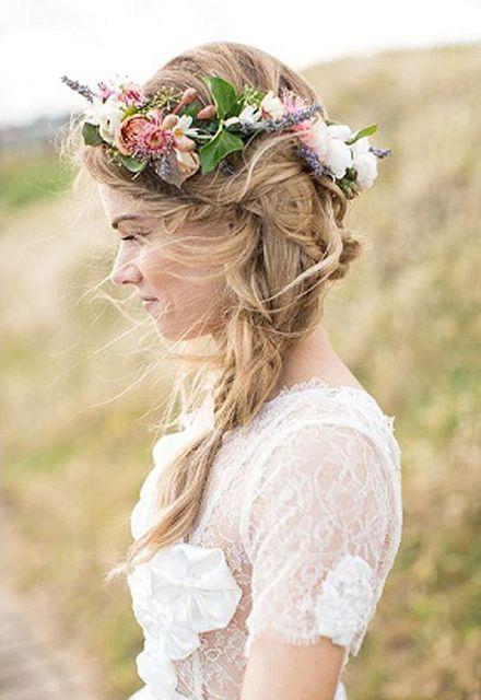 Moda Bohemia Mujeres Novia Flores Diadema Flor de Rose Crown Hairband Señoras Accesorios Para el Cabello Pelo de la Venda Principal Elástico Playa