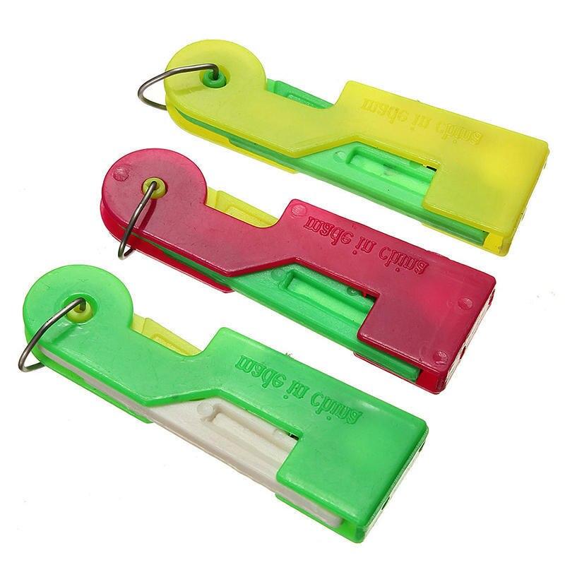 3pcs/5pcs/10pcs Random Color Elderly Convenient Automatic Sewing Needle Threader Thread Guide Tool AA8274(China)