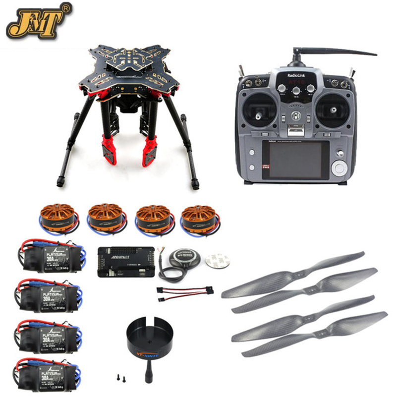 JMT DIY GPS Drone RC Quadcopter HMF U580 Totem Series APM2.8 Flight Control 700KV Motor 30A ESC Radiolink AT10 TX&RX No Battery 6axle foldable rack rc helicopter kit apm2 8 flight control board gps 1000kv motor 10x4 7 propeller 30a esc at10 tx f02015 j