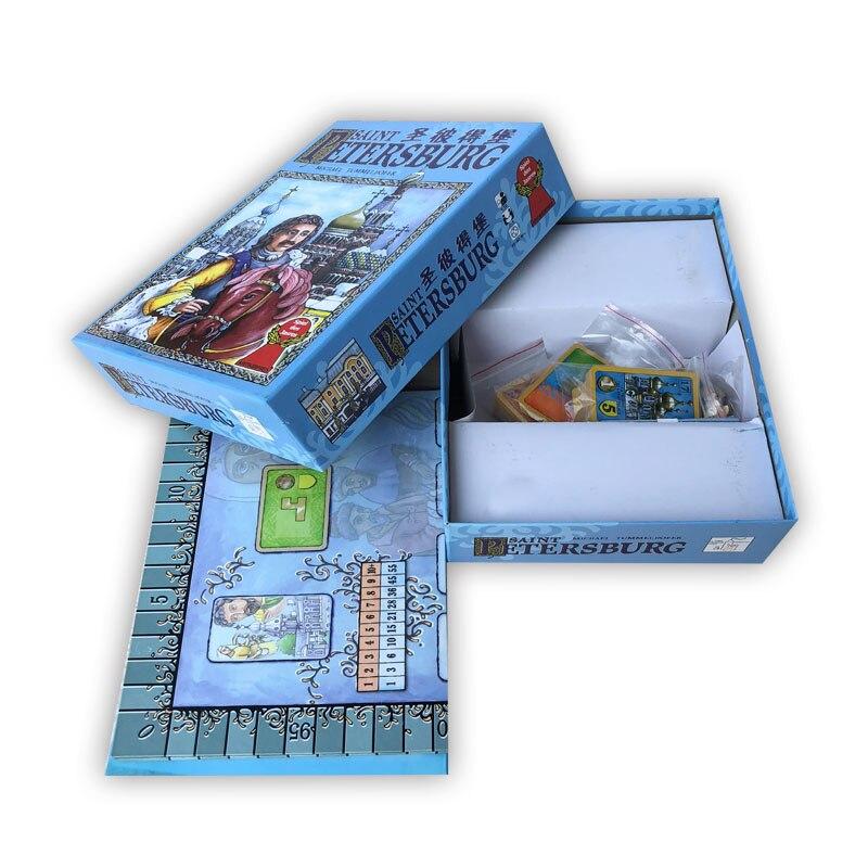 Saint-pétersbourg jeu de société 2-4 joueurs famille/fête meilleur cadeau pour enfants drôle imperméable jeu de cartes livraison gratuite