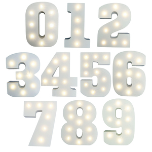 0-9 Light Up LED Number Plaques For Any Occasion Birthdays / Anniversaries 15cm Light Up Wooden Letters LED Night Wedding