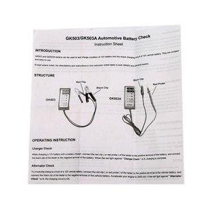 Image 5 - All Sun GK503 12V 6 LED Display Automotive Vehicle Battery Tester Charger Dinagnostic Analyzer Cranking Check GK503