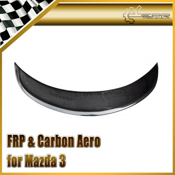 Car-styling Carbon Fiber AE Style Rear Spoiler (5 Door Sedan Model) Fiber Trunk Wing Fit For Mazda Mazda 3 Axela BM 14-17