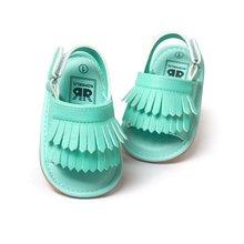 Досуг кисточкой сандалии pu новорожденных девочек лето цвета детей обувь мода