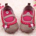 0-12 М Сладкий Новорожденный Девушки Цветочные Раффлед Обувь Малыша Мягкое Дно Малышей Детская Кровать Первые Ходунки