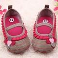 0-12 M Bebê Recém-nascido Meninas Flor Doce Babados Sapatos Da Criança Fundo Macio Crianças Berço Primeiras Walkers