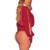 2017 Nova Primavera Mulheres Bodysuit Sexy Decote Em V Divisão de Manga Comprida Clube festa Macacão Macacão Macacões Playsuits Casuais Preto Vermelho S M L
