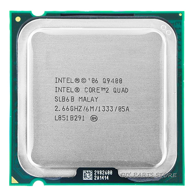 4 jádra INTEL Core 2 Quad Q9400 Socket LGA 775CPU procesor INTEL Q9400 2.66Ghz / 6M / 1333GHz)