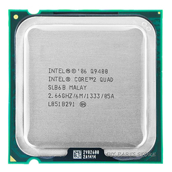 4 core INTEL Core 2 QUDA Q9400 CPU INTEL Q9400 Processor 2.66Ghz/6M /1333GHz) Socket 775