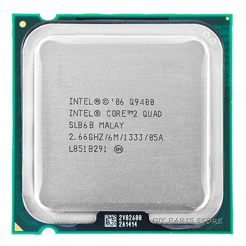 4 rdzeń INTEL core 2 Quad Q9400 gniazdo LGA 775CPU INTEL Q9400 procesor 2.66 Ghz/6 M/1333 GHz)