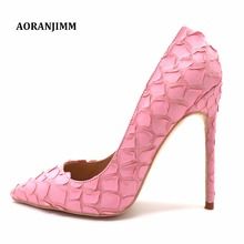 a87d0f9bd25d Free shipping cherry blossom baby pink fish scale flower petal pointed toe  women lady girl evening
