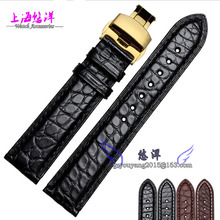 18mm 19mm 20mm 21mm 22mm Black Brown alligator leather watchband is available for men and women