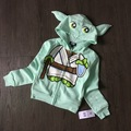 Free Shipping 8 Pieces/lot [4-16T] the original Star Wars Yoda super cute clothes zipper sweater