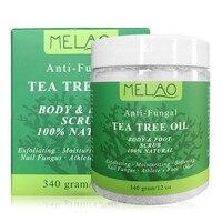 Natural Tea Tree Oil Organic Body Foot Exfoliating Cream Anti Fungal Moisturizing Whitening Cream Gel Exfoliator