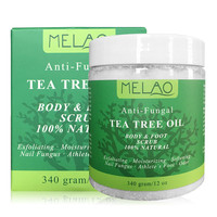 Natural Tea Tree Oil Organic Body Foot Exfoliating Cream Anti Fungal Moisturizing Whitening Cream Gel Exfoliator