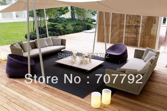 2017 Japanese Style Outdoor Terrace Furniture Sofa Outdoor Sofa