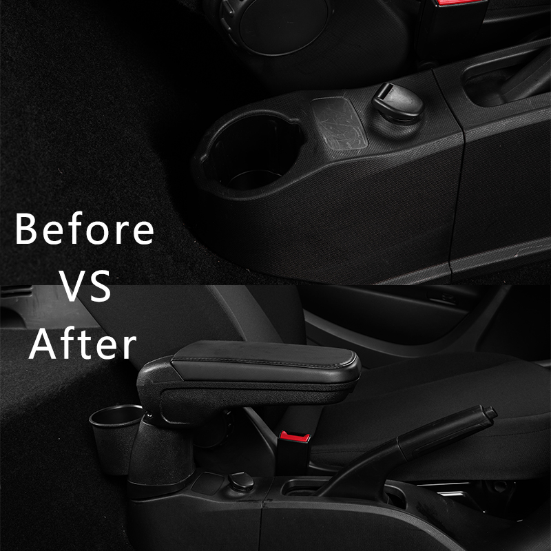 Boîte d'accoudoir en cuir avec support de verre casier pour Mercedes nouveau Smart 453 Fortwo Forfour 2015-2018 accessoires d'intérieur automobile - 5